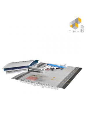 Tiny City 1:400 Diorama and Diecast Model Car Ps6 - Hong Kong International Airport Passenger Terminal with Airport