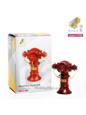 Tiny 1:18 Model Scenes & Accessories - Red Fire Hydrant