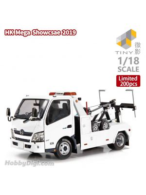 Tiny Hobby 1:18 Diecast Model Car - Hino 300 Tow Truck (White)
