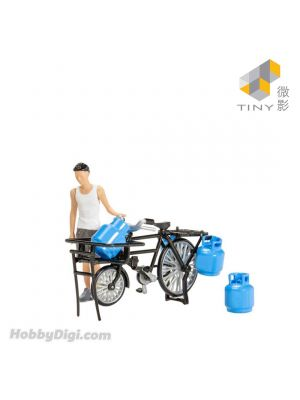 Tiny City 1:35 Diecast Model Car - Bottled LPG delivery bicycle