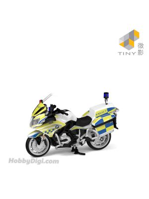 Tiny City 1:43 Diecast Model Car 88 - BMW R1200RT-P Police Motorcycle (AM6810)