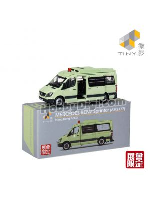 Tiny City 1:110 Event Exclusive Diecast Model Car - Mercedes-Benz Sprinter (AM2777) Hong Kong AFCD