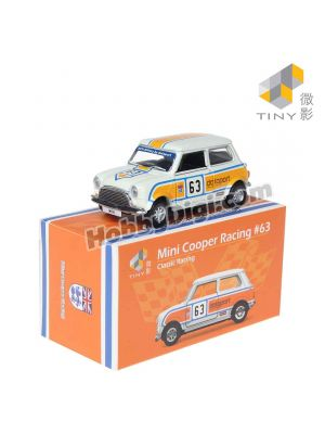 Tiny City Diecast Model Car - Mini Cooper Racing #63