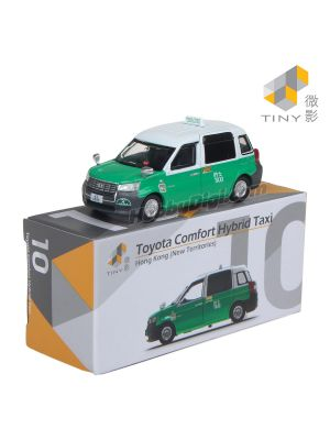 Tiny City Diecast Model Car 10 - Toyota Comfort Hybrid Taxi (New Territories)
