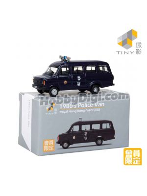 Tiny City 1:110 Member Exclusive Diecast Model Car - 1980's Police Van  Royal Hong Kong Police (with Blue-roof)