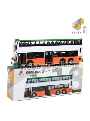 Tiny City Diecast Model Car L18 - E500 Bus (White)
