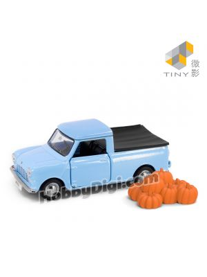 Tiny City 1:50 Diecast Model Car - Morris Mini Pickup with accessory (Blue)