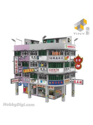 Tiny City 1:64 Diorama BD12 - Hong Kong Old Tenements Building Diorama Ver.2 (Two-Tone)