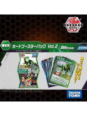 Takara Tomy Bakugan Battle Planet Baku028 - Bakugan Card Booster Pack Vol.2