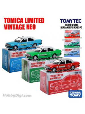 TOMYTEC Tomica Limited Vintage NEO Hong Kong Exclusive Diecast Model Car Diecast Model Car - LV-N TOYOTA CROWN COMFORT HK TAXI Set of 3