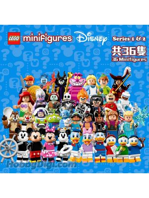 LEGO Minifigure 71012 71024: The Disney Series 1 & 2 Set of 36