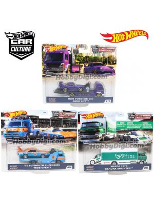 Hot Wheels Premium 1:64 Diecast Model Car - Car Culture 2020 Team Transport Set of 3