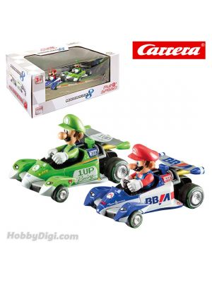 Carrera Pull Back Model Car - Nintendo Mario Kart 8 Circuit Special Twinpack Mario + Luigi Set of 2