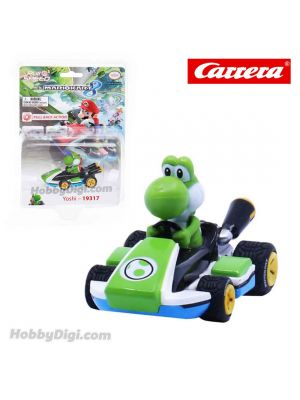 Carrera Pull Back Diecast Model Car - Nintendo Mario Kart 8 PULL BACK CAR - Yoshi