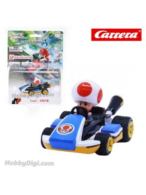 Carrera Pull Back Diecast Model Car - Nintendo Mario Kart 8 PULL BACK CAR - Toad