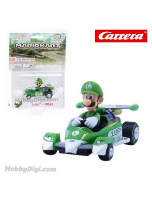 Carrera Pull Back Diecast Model Car - Nintendo Mario Kart 8 Circuit Special PULL BACK CAR - Luigi