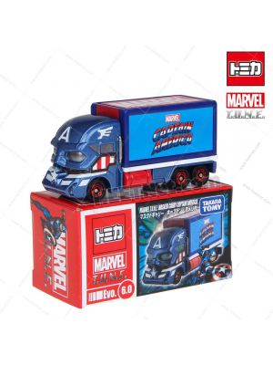 Tomica Marvel T.U.N.E.合金車 Evo 6.0 - Masked Carry Captain America