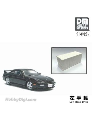 Diecast Masters 1:64 Diecast Model Car - Nissan Silvia S14 Black (Left Hand Drive)