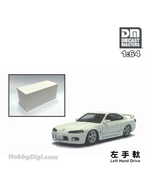 Diecast Masters 1:64 Diecast Model Car - Nissan Silvia S15 White (Left Hand Drive)