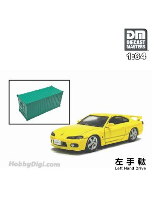 Diecast Masters 1:64 Diecast Model Car - Nissan Silvia S15 Yellow (Left Hand Drive)