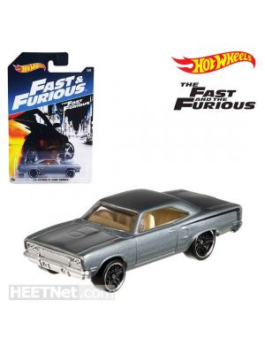 Hot Wheels Fast and Furious Diecast Model Car - 1970 Plymouth Road Runner Grey