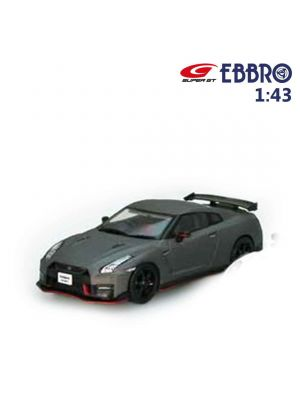 EBBRO Hot 1:43 Diecast Model Car - Nissan GT-R Nismo 2017 Meteor Flake Black Pearl