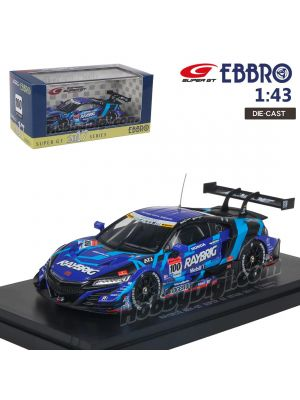 EBBRO Super GT 2017 1:43 Diecast Model Car - Super GT GT500 2017 Raybrig Honda NSX-GT No.100