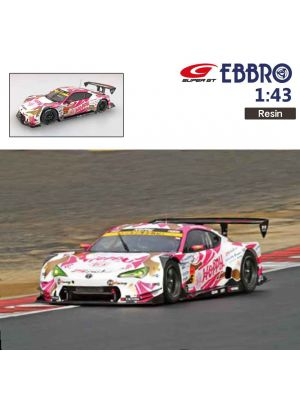 EBBRO Super GT 2018 1:43 樹脂模型車 - HOPPY Toyota 86 MC SUPER GT GT300 2018