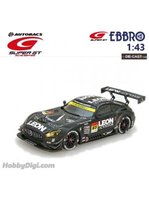 EBBRO Super GT 2018 1:43 Diecast Model Car - LEON CVSTOS AMG SUPER GT GT300 2018 No.65