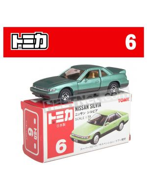 [Made in Japan] Tomica Diecast Model Car No6 - Nissan Silvia