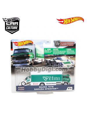 Hot Wheels Premium 1:64 合金車 - Car Culture 2020 Team Transport - MAZDA 787B SAKURA SPRINTER TM #16