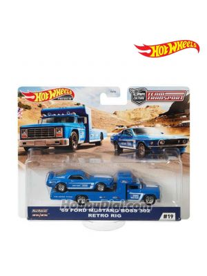 Hot Wheels Premium 1:64 合金車 - Car Culture 2020 Team Transport - 1969 FORD MUSTANG BOSS 302 / RETRO RIG 1