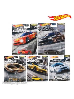Hot Wheels Premium 1:64 Diecast Model Car - Fast & Furious 2019 Set of 5
