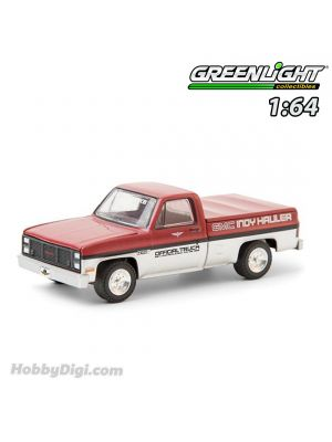 Greenlight 1:64 Diecast Model Car - 1985 GMC High Sierra 69th Annual Indianapolis 500 Mile Race GMC Indy Hauler Official Truck (Hobby Exclusive)