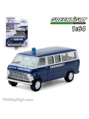 Greenlight 1:64 合金車 - 1969 Ford Club Wagon - City Police Emergency (Hobby Exclusive)