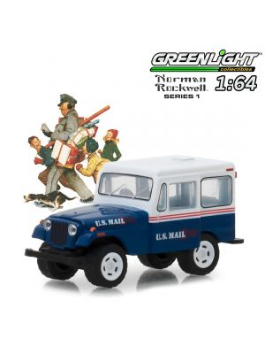 Greenlight 1:64 Diecast Model - Norman Rockwell Delivery Vehicles S1 1971 Jeep DJ-5