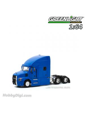 Greenlight 1:64 合金車 - S.D. Trucks Series 10 - 2019 Mack Anthem Truck Cab - Cobalt Blue Solid Pack
