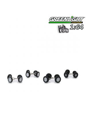 Greenlight 1:64 Accessories - Club V-Dub Wheel & Tire Pack - 16 Wheels, 16 Tires, 8 Axles (Hobby Exclusive)