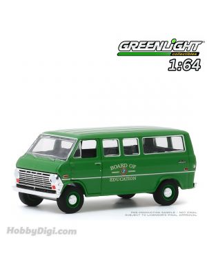 Greenlight 1:64 Diecast Model Car - Hobby Exclusive 1970 Ford Club Wagon - Board of Education