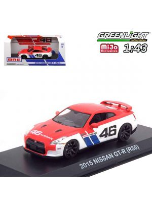 Greenlight 1:43 MiJo Exclusives Diecast Model Car - 2015 Nissan GT-R R35 BRE