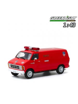 Greenlight 1:43 Diecast Model Car - 1983 Dodge Ram B250 Van - FDNY (The Official Fire Department City of New York)