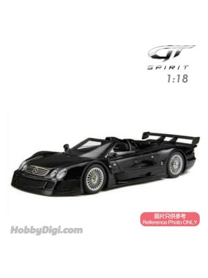 GT SPIRIT 1:18 樹脂模型車 - MERCEDES-BENZ CLK GTR ROADSTER BLACK 1998