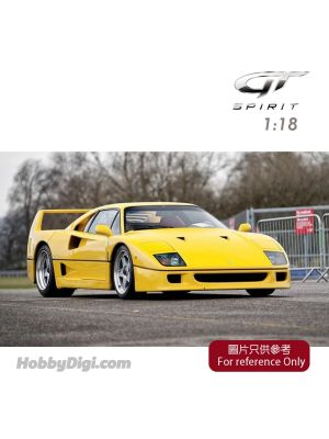 GT SPIRIT 1:18 Resin Model Car - FERRARI F40 Giallo Modena