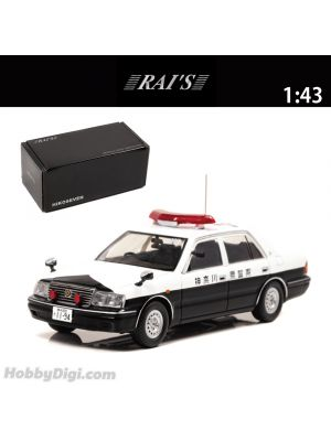 HIKOSEVEN RAI'S 1:43 Diecast Model Car - Toyota Crown (JZS155Z) 2000 Kanagawa Prefectural Police Department Traffic Department Vehicle (407)