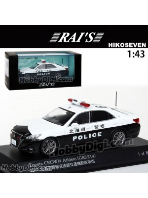 HIKO7 RAI'S 1:43 Diecast Model Car - Toyota Crown Athlete Hokkaido Police Department of Transportation (610)