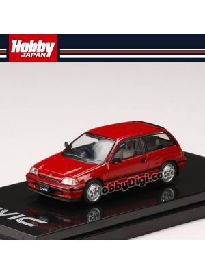 Hobby JAPAN Diecast Model Car - 1/64 Honda CIVIC Si (AT) 1984 Red