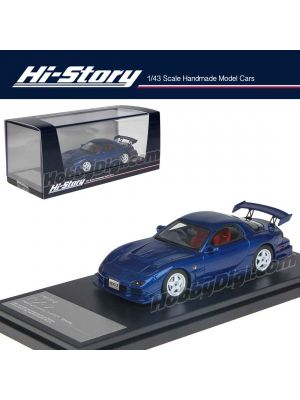 Hi-Story 1:43 手工制造樹脂模型車 - Mazda RX-7 Mazdaspeed R-Spec 2000 Blue