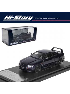 Hi-Story 1:43 Hand Made Resin Model Car - Nissan Skyline GTS25t TypeM Nismo Version 1996 Purple