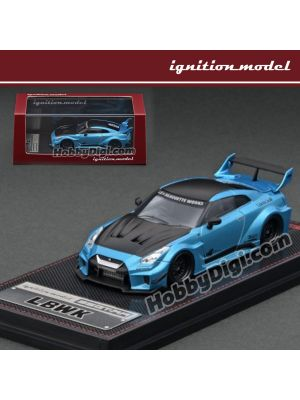 Ignition Model 1:64 Diecast Model Car - LB-Silhouette WORKS GT Nissan 35GT-RR Light Blue Metallic