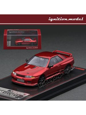 Ignition Model 1:64 模型車 - TOP SECRET Nissan GT-R (VR32) Red Metallic